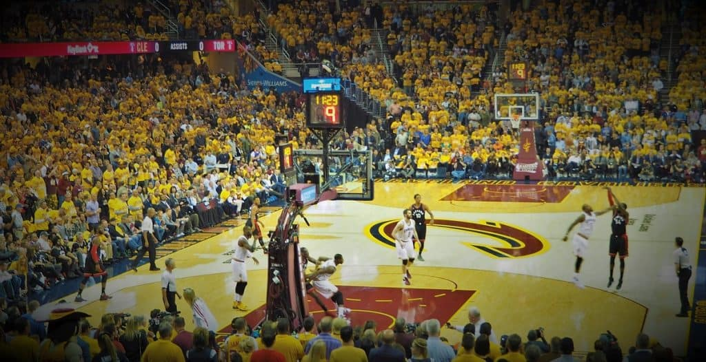 Best Basketball Players: Cleveland Cavaliers vs Toronto Raptors in Quicken Loans Arena. Photo taken by Fred Blair of Awesome Hoops