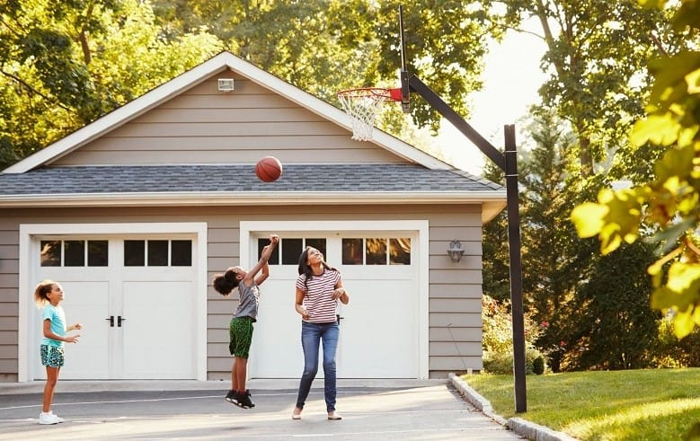 best in-ground basketball hoop on driveway