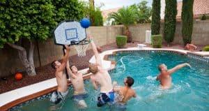 Swimming Pool Basketball Hoop. Best Pool Basketball Hoop. Best Poolside Basketball Hoop.