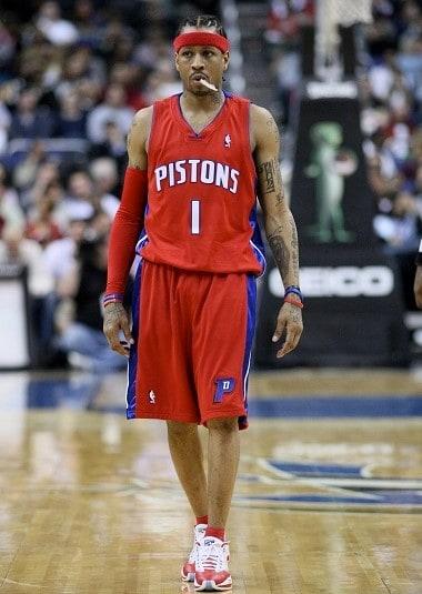Allen Iverson: basketball shorts. NBA basketball shorts.