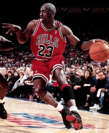 Michael Jordan: basketball shorts. Chicago Bulls basketball shorts. NBA basketball shorts.