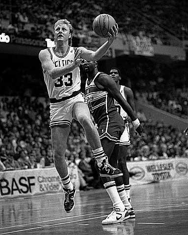 Larry Bird: basketball shorts